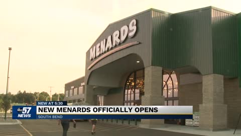Menards Mega Store in South Bend officially opens Tuesday
