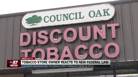Michiana business owner weighs in on change to minimum smoking age