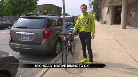 Michiana man bikes to Washington, D.C. to raise awareness