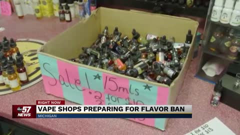 Michigan vape shops preparing for flavored e-cigarette ban