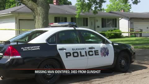 Missing Elkhart man died from a gunshot wound