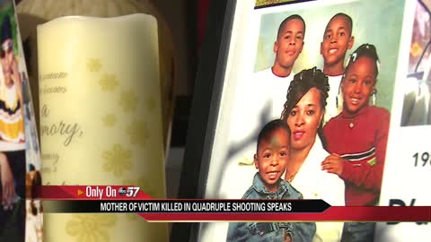 Mother of victim killed in quadruple shooting speaks on son's birthday