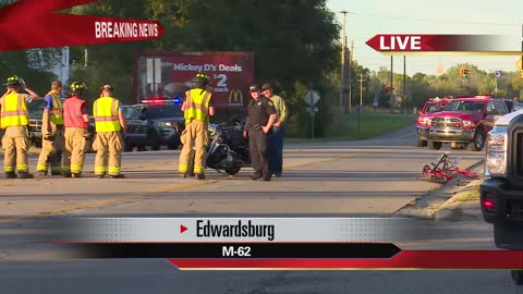 Motorcycle accident in Edwardsburg