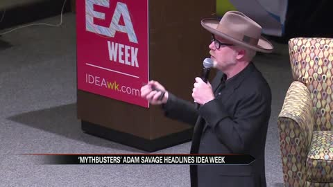 Mythbusters' Adam Savage delivers keynote speech to kickoff idea week