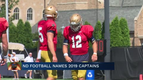 ND football names 2019 captains