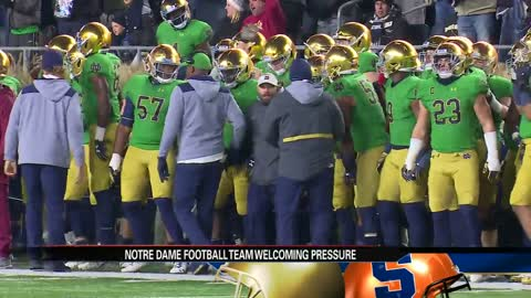 Irish welcoming pressure of national stage against Syracuse