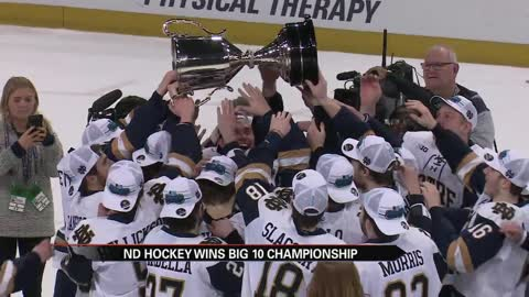 ND hockey captures Big Ten championship