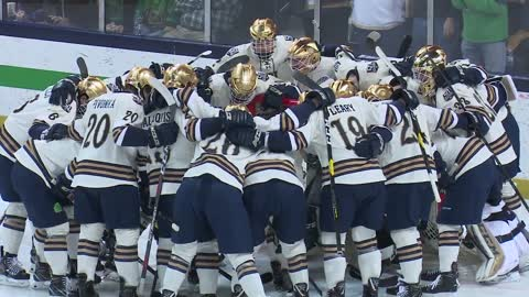 ND hockey earns weekend split with Wisconsin