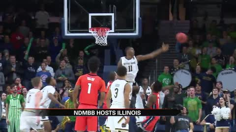 ND men's hoops edges out Illinois for fourth-straight win