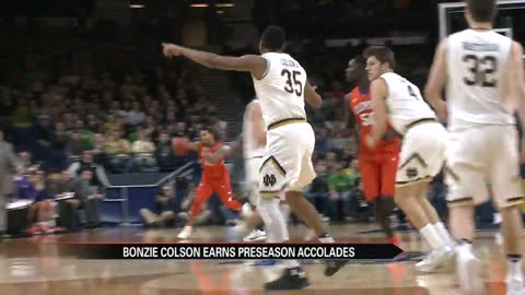 ND men's basketball player Colson earns preseason accolades