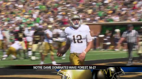 Notre Dame's QB switch sparks dominant win at Wake Forest