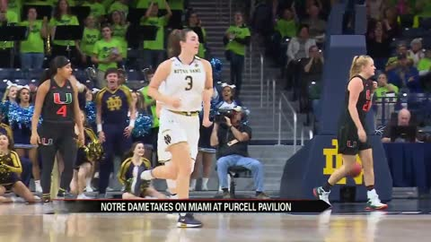 ND women's hoops battle through injuries, outlast Miami
