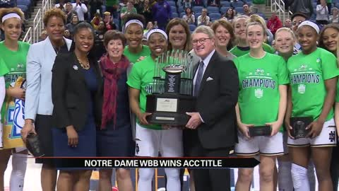 ND women recapture ACC Tournament title