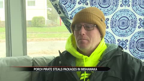 Neighbor rescues packages from alleged porch pirate