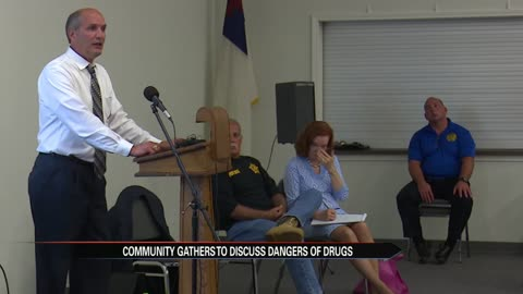 Neighborhood group discussion on opioid crisis prompted by killing of local doctor