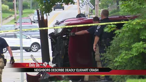 Neighbors jump into action after car crashes in Elkhart