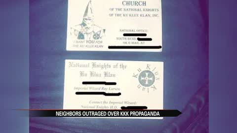 'I'm outraged;' KKK propaganda found at local Michiana...