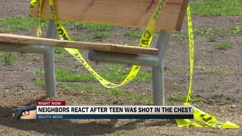 Neighbors react after teen was shot in the chest