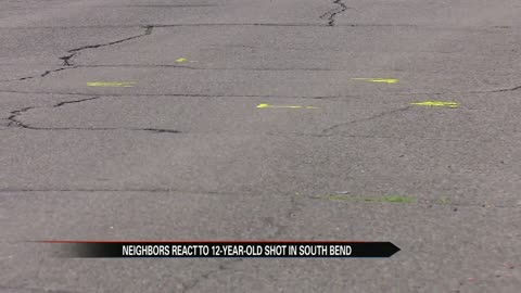 Neighbors react to 12-year-old shot in South Bend