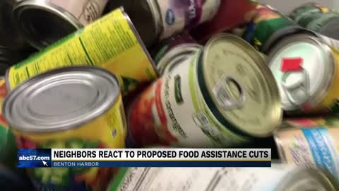 Neighbors reacting after Michigan joins fight against proposed food assistance cuts