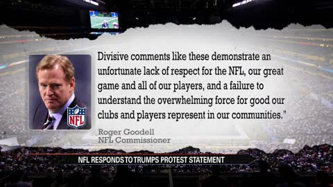 NFL chief, NBA stars slam Trump