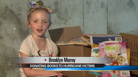 6-year-old girl collects books for Texas school