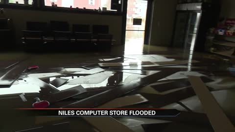 Niles business destroyed by rising floodwaters