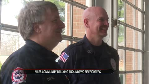 Niles community rallying around area firefighters