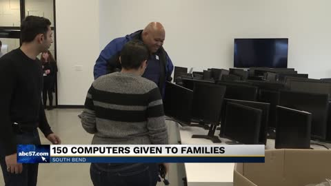 150 South Bend families receive free computers, internet access