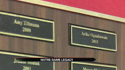 Notre Dame athlete's high school holds Irish legacy