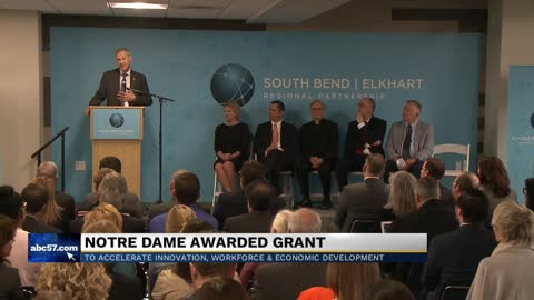 Notre Dame awarded grant to help economic development 6pm