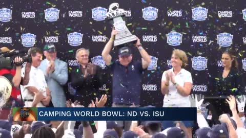Notre Dame beat Iowa State in Camping World Bowl