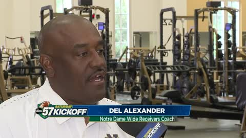 Notre Dame Coach Del Alexander played for USC