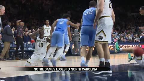 Notre Dame hoops falls to UNC at the buzzer