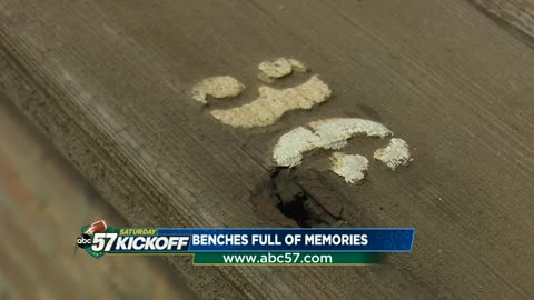 "Notre Dame fan keeps ""miles of memories"" with piece of wooden bench"