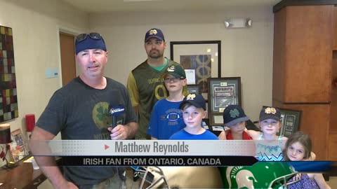 Notre Dame fans gear up ahead of Michigan State match up