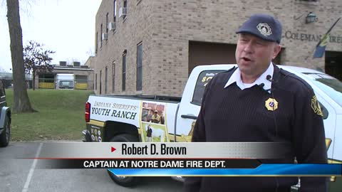 Notre Dame Firefighter wins new truck