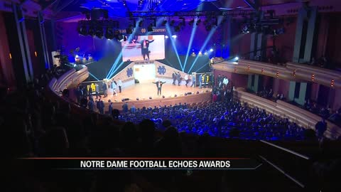 Notre Dame football gathers for annual Echoes Awards Show