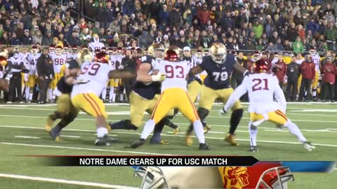 Notre Dame football set for rivalry meeting with USC