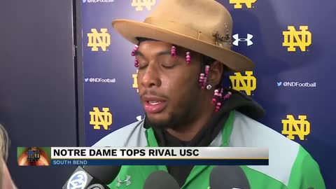 Notre Dame football tops rival USC