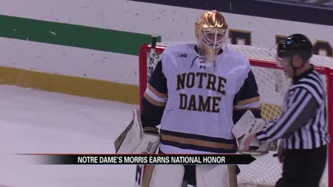 Irish goaltender Cale Morris earns national honor