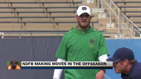 Notre Dame Head Coach Brian Kelly promotes two offensive coaches