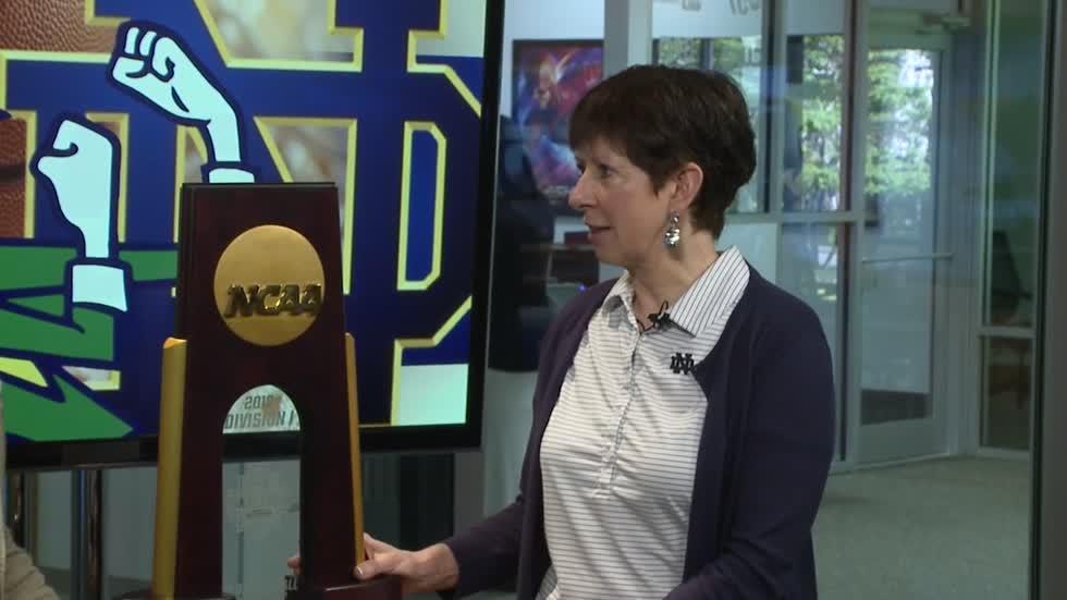035be1d38c0 Notre Dame women s basketball coach talks national championship trophy tour