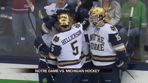 Notre Dame hockey beats rival Michigan in midweek matchup
