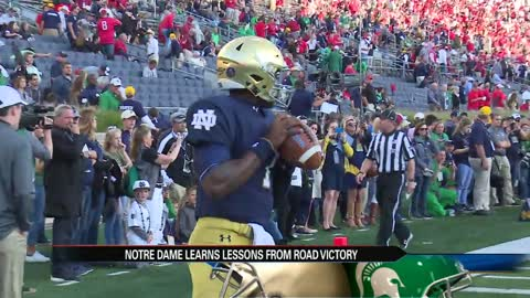 Notre Dame football hopes road success continues at MSU