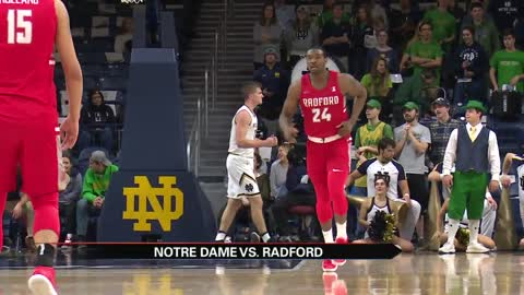 Notre Dame men's hoops upset by Radford at home