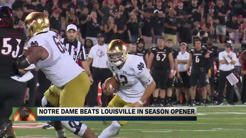 Notre Dame overcomes struggles in opening win
