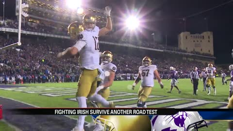 Notre Dame passes latest road test at Northwestern