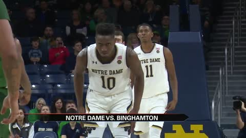 Notre Dame tops Binghamton in first action since Pflueger injury