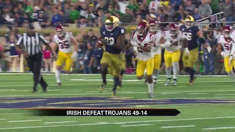 Notre Dame tops USC in dominant rivalry win